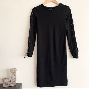 Kendall & Kylie Black Long Sleeve Dress